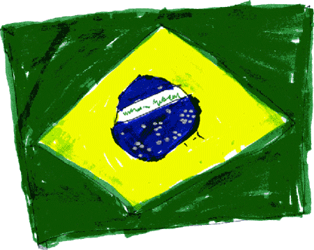 Flag of Brazil (Bandeira do Brasil) drawn by Jack