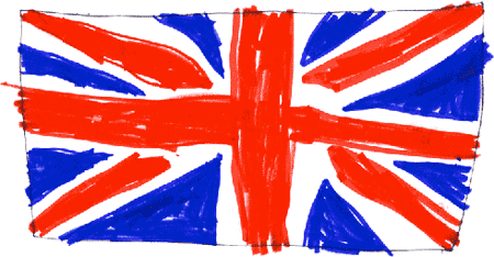 Flag of the United Kingdom of Great Britain and Northern Ireland (Union Flag) drawn by Jack