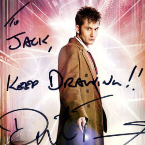 Jack Henderson drew a picture for Tenth Doctor Who — David Tennant