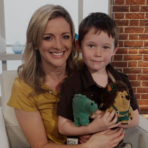 Jack meets Gabby Logan with Mr Pricklepants and Green the Dinosaur