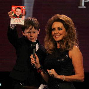 Jack with Carol Vorderman at the Pride of Britain Awards 2012