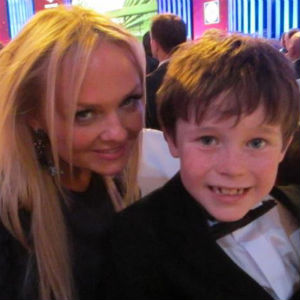 Emma Bunton (Baby Spice) Spice Girl with Jack at the Pride of Britain Awards 2012