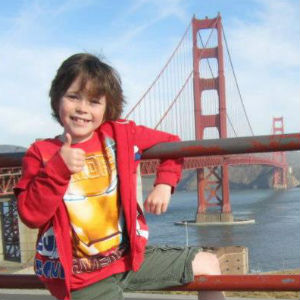 Jack at the Golden Gate Bridge in San Francisco