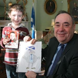 Jack Henderson meets Scotland First Minister Alex Salmond