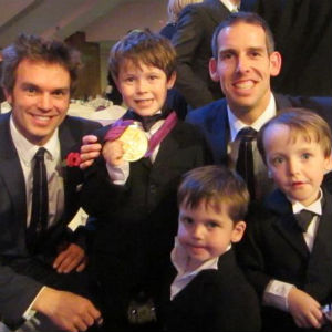 Jack, Toby & Noah with Olympic Gold Medallists Timothy Baillie and Etienne Stott