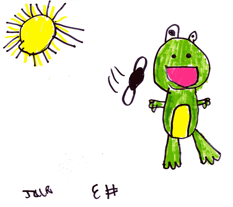 A frog with the sun shining for Craig Jardine