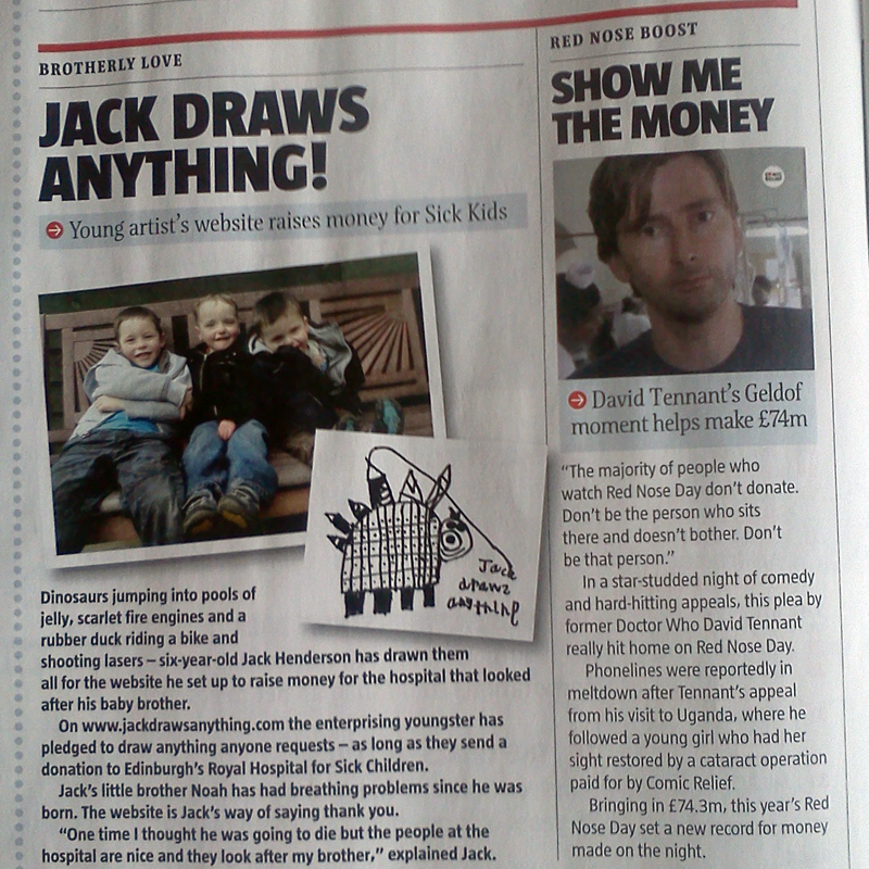 Jack, Toby, Noah & David Tennant in The Big Issue Scotland #829