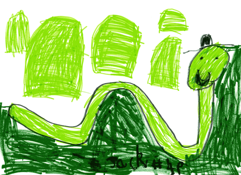 Scottish countryside with the Loch Ness Monster for Jeanette, Charlie & Niamh