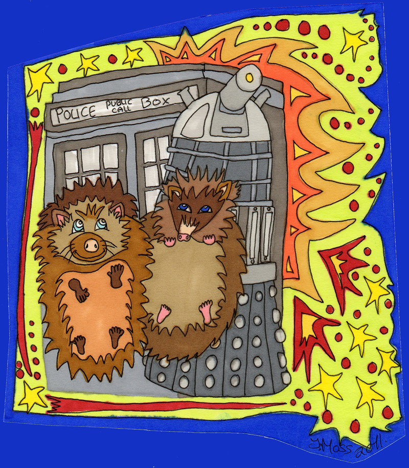 Someone drew me a picture–Doctor Who & Hedgehogs