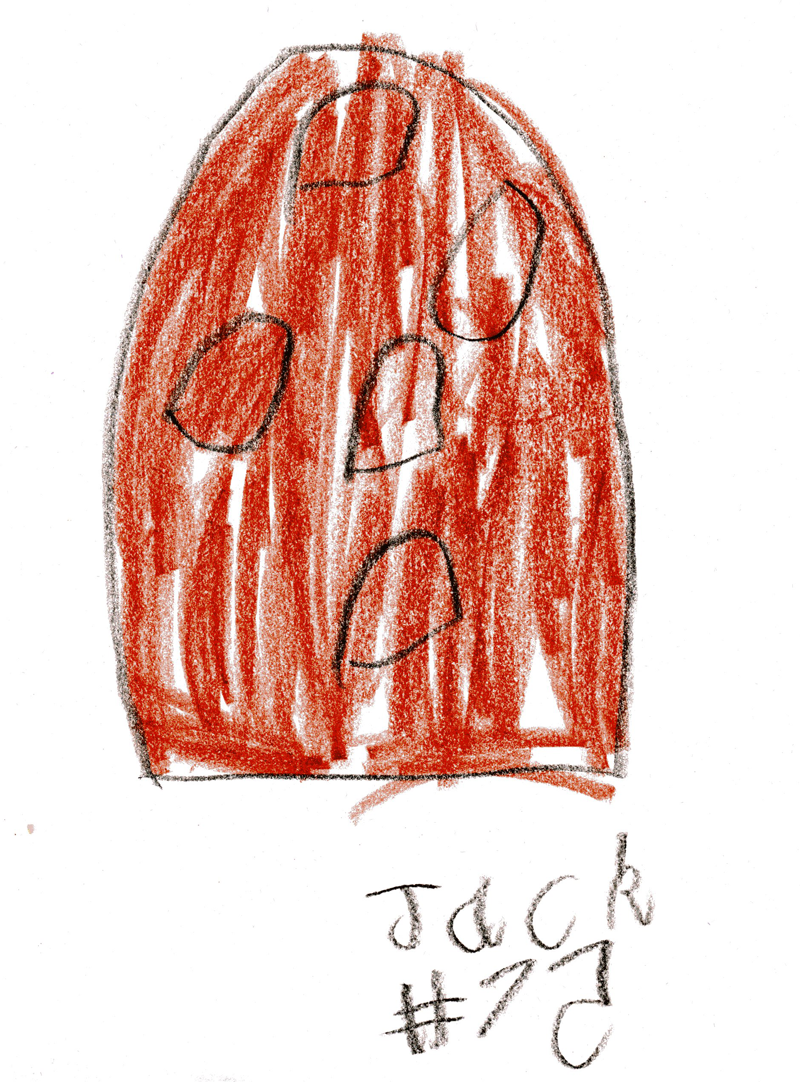 Acorn (he means a pine cone) for Anita Dalton | Jack Draws Anything