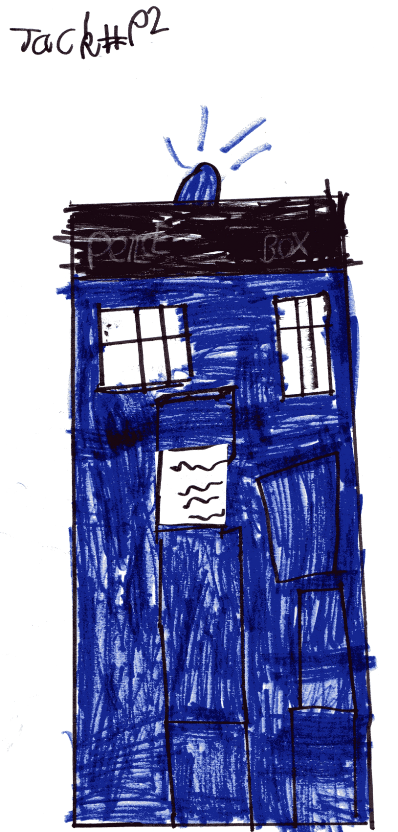 Doctor Who's TARDIS for Louise Dryburgh