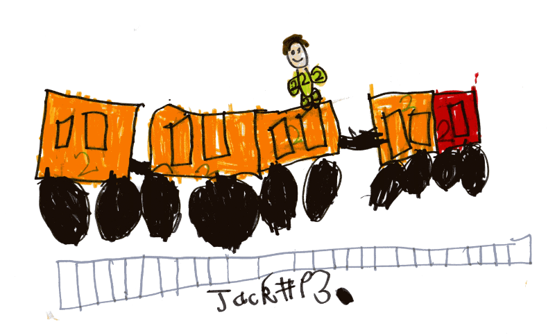A train for Thomas Lindon (who is nearly 2)