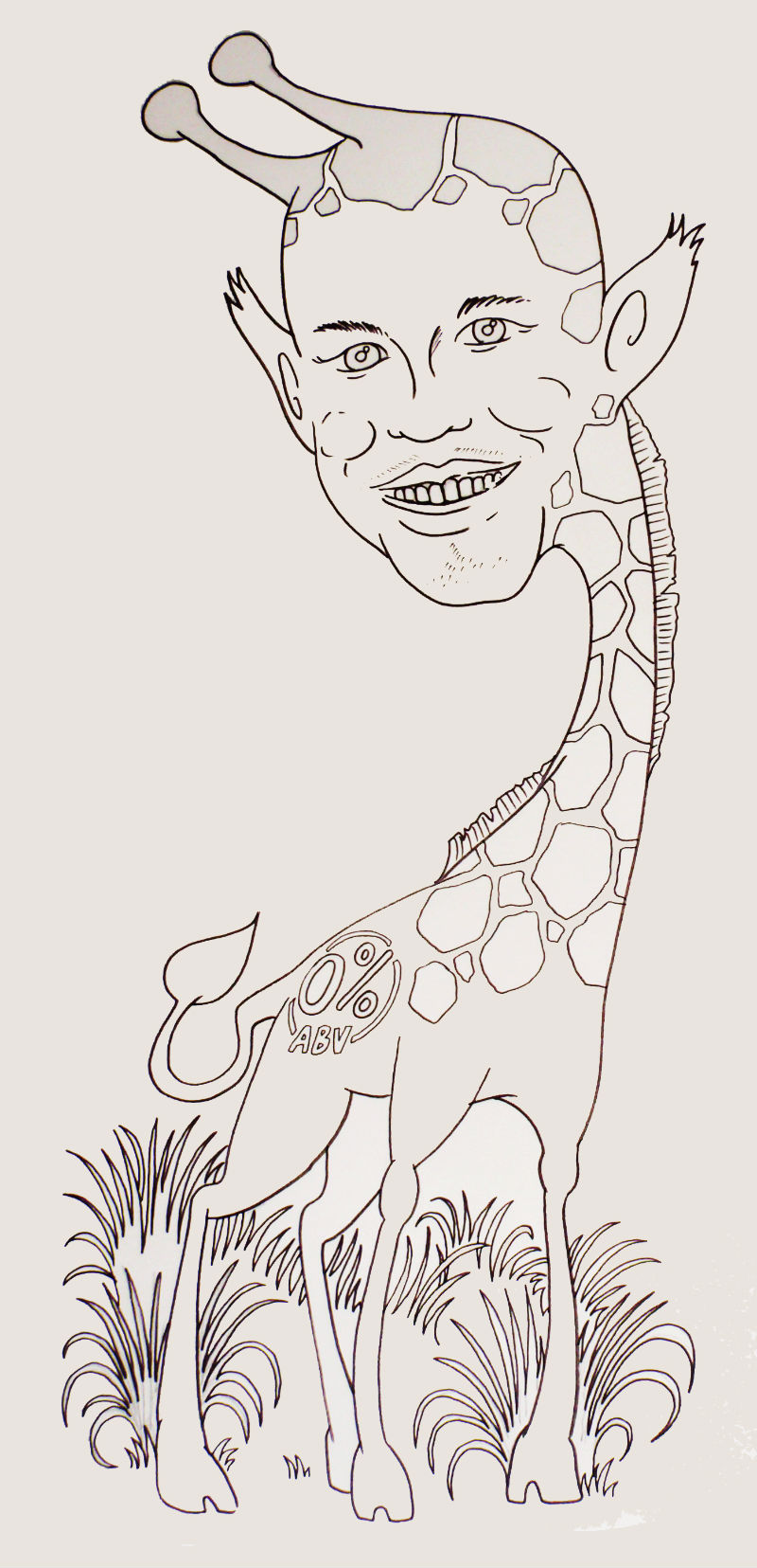 Someone drew ME a picture–Personable Giraffe by Simon from Ideas Garden