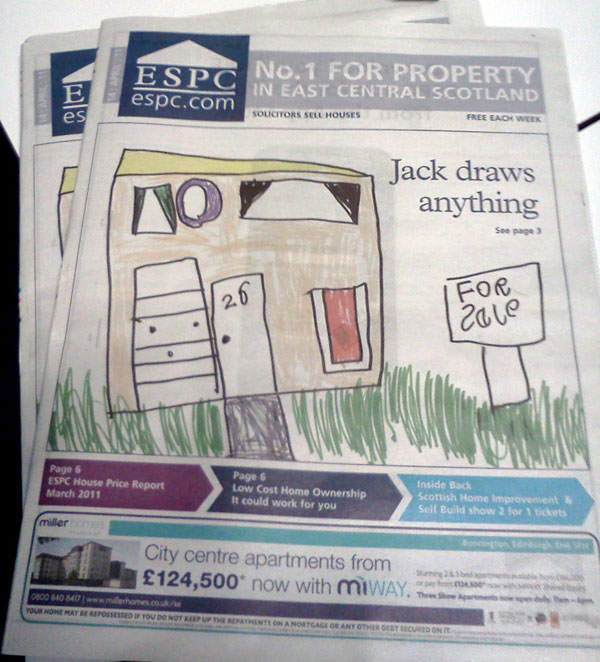 Jack on front cover of ESPC