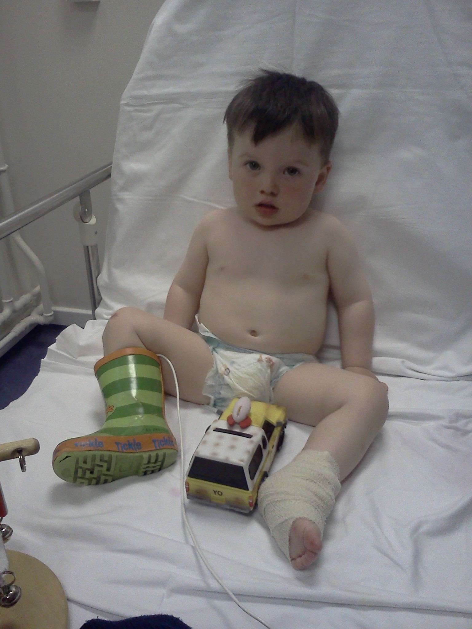 Sick Kids A&E team stabilise Noah