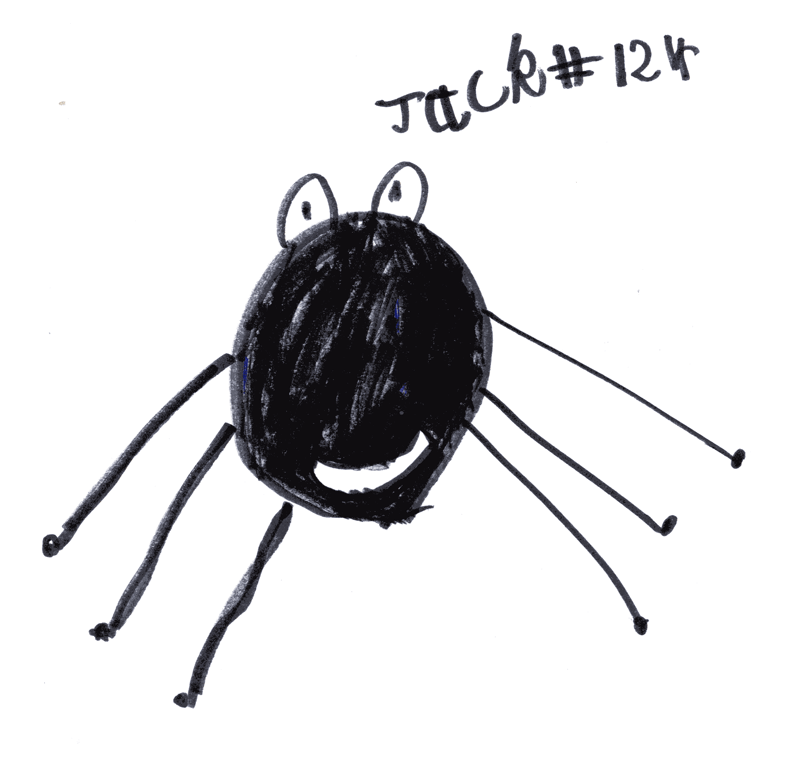 7 legged spider for Carolyn Hicks husband (we didn't know his name)