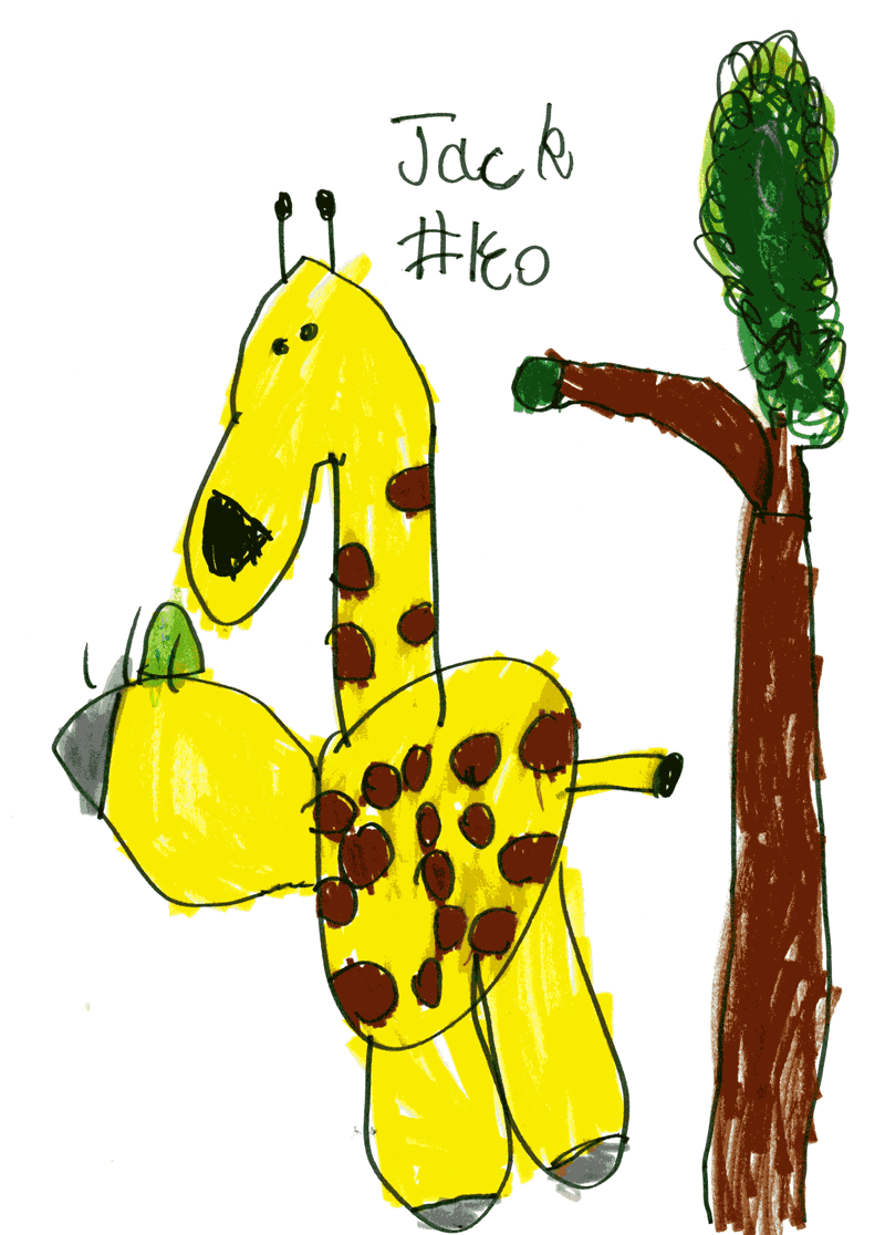 Giraffe for Chris Bell and Nick Hilditch (@irkafirka)