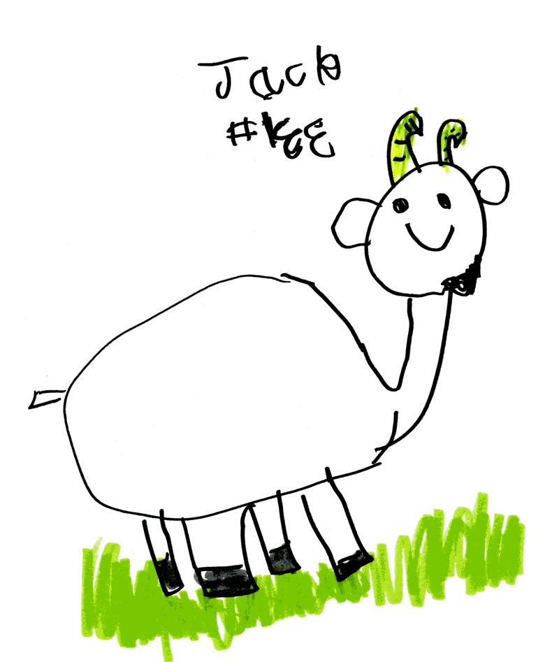 Happy goat for Thomas Jennings