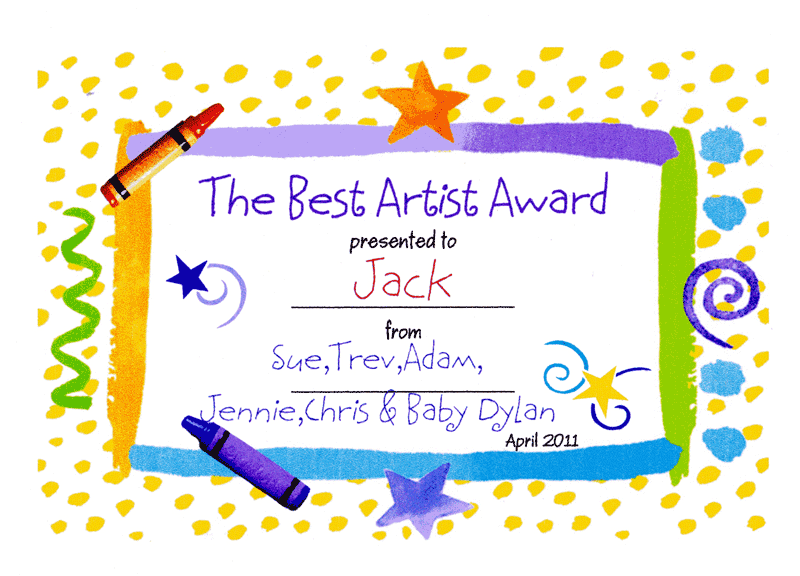 Art award certificate template gidiyedformapolitica best artist award jack draws anything yadclub Gallery