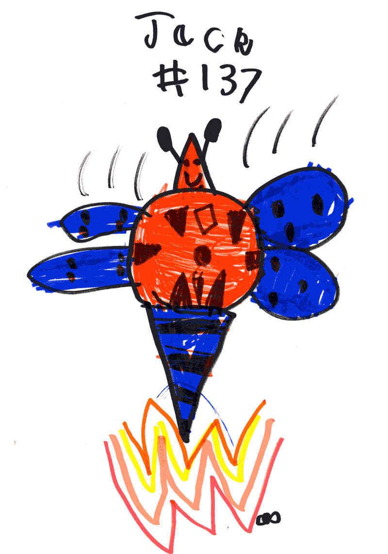 Dragonfly (farting flames to toast a normal fly) for Sarah Wiles