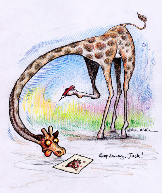 Someone drew me a picture–Reciprocal Giraffe