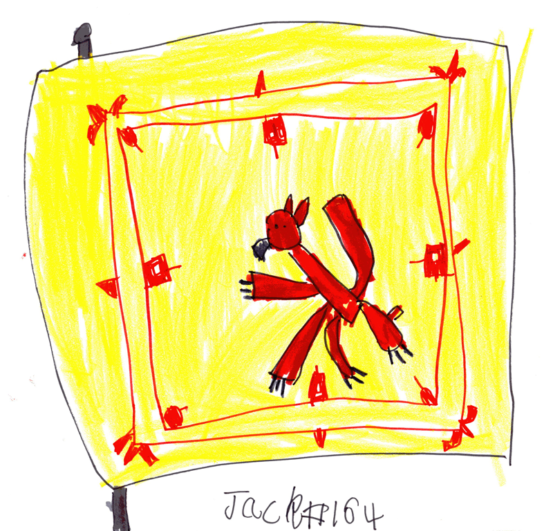 Picture of a Scotland flag (The Lion Rampant)