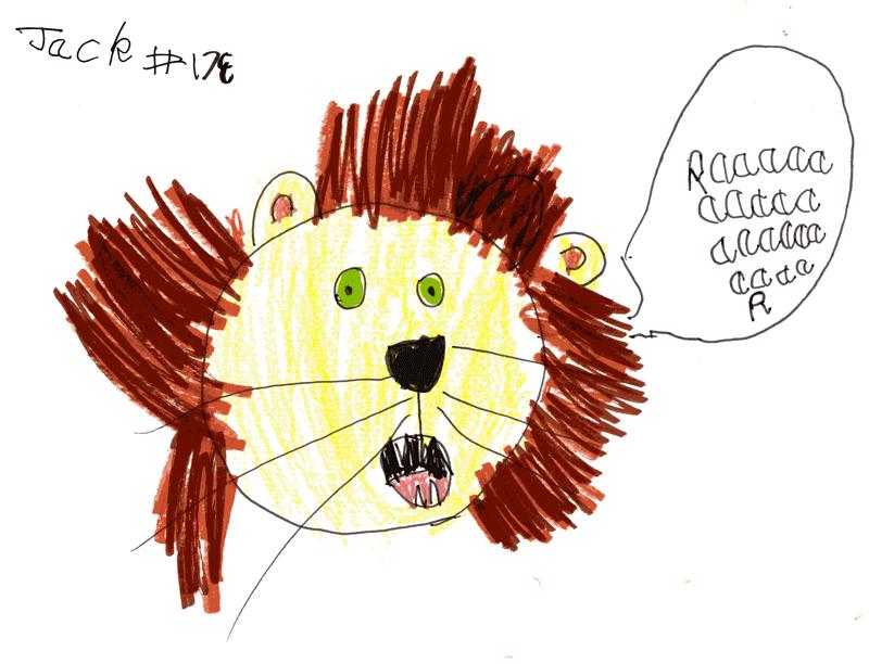 Laughing Lion for Linda Kong's girls