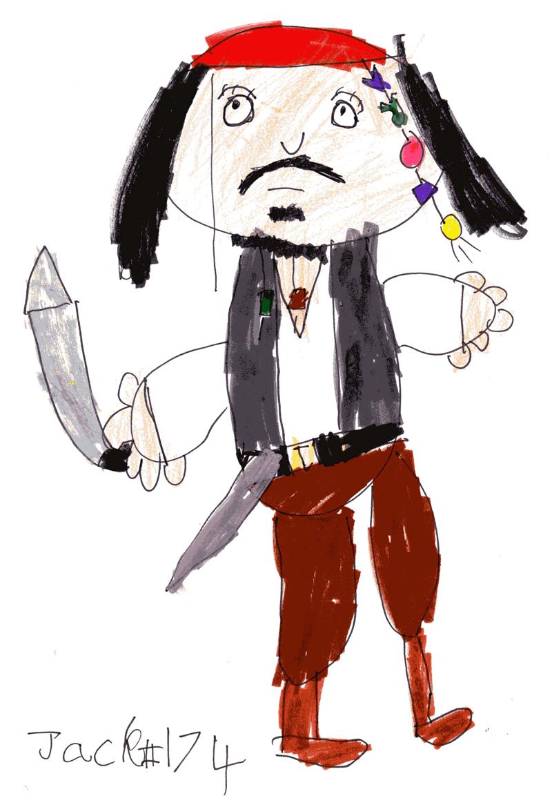 Captain Jack Sparrow for Helen Lawrie