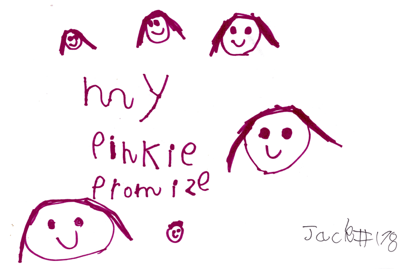 My Pinkie Promise logo with smiley faces for Alison Henderson