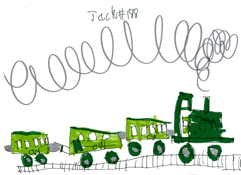 Green train with lots of carriages for Callum Wilson