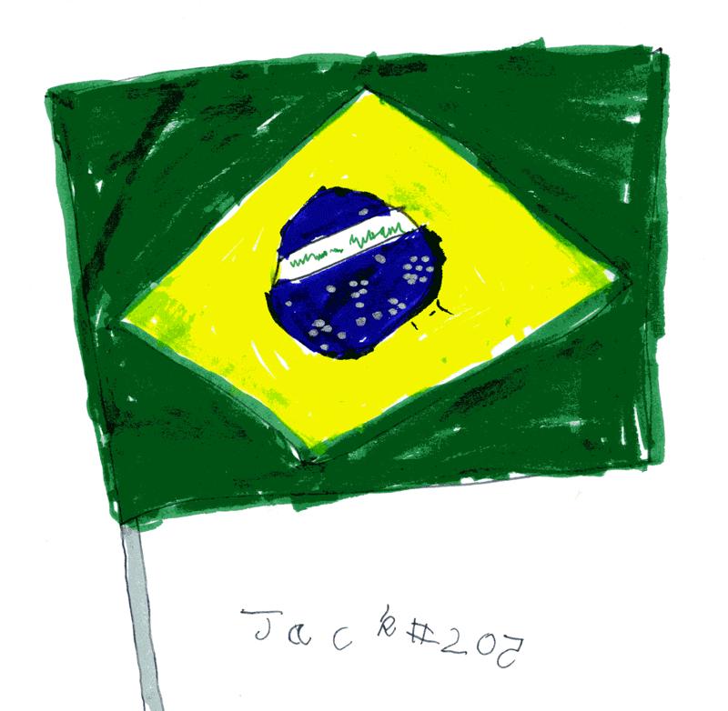 Bandeira do Brasil (Flag of Brazil) for my new friends in Brazil
