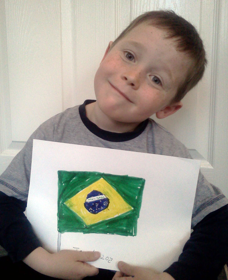 Bandeira do Brasil (Flag of Brazil) for my new friends in Brazil