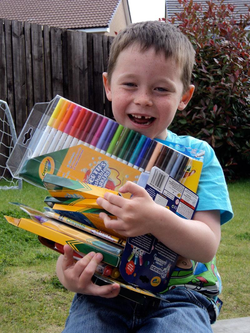 Big thank you to Crayola & Vivid Imaginations