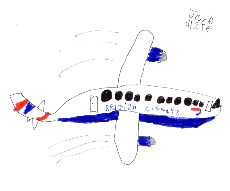 Big British Airways airplane with Union Jack tail for Johnathan Barrett (@Johnathan1707)