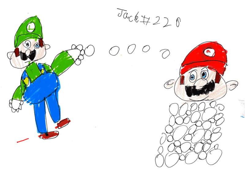Mario and Luigi having a snowball fight for Matthew Farrow