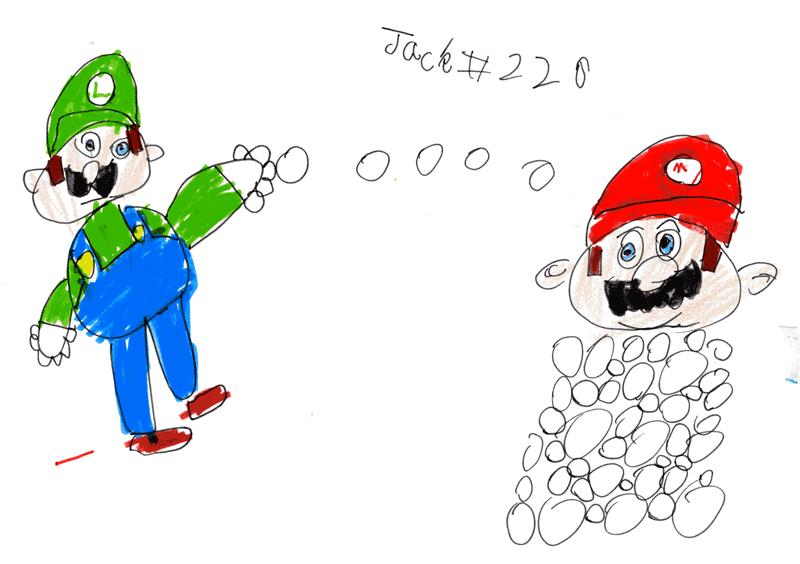 Mario and Luigi having a snowball fight for Matthew Farrow