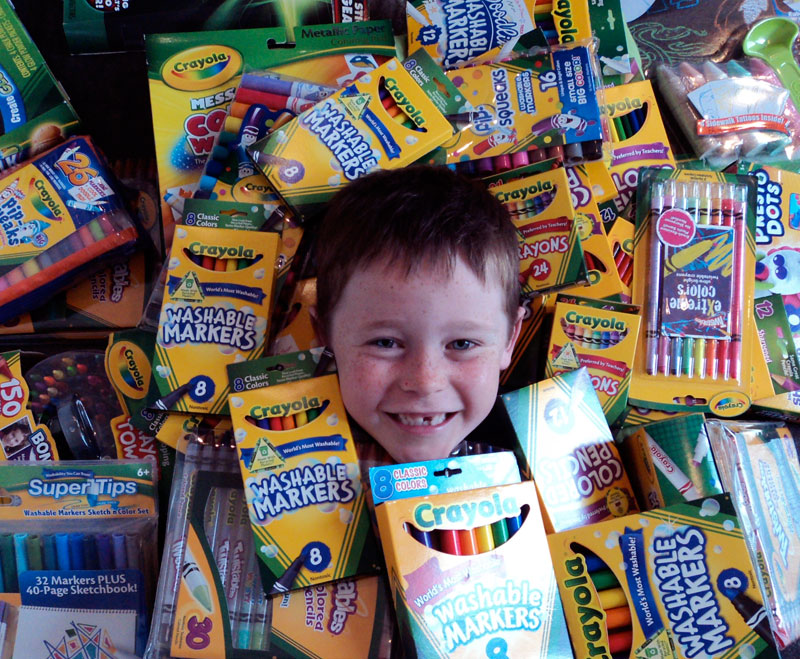 Thank you to Crayola USA for the biggest box of art supplies…ever