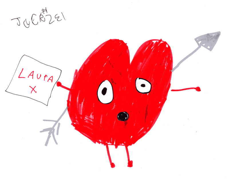 Big love heart from Simon Painter (@simonpainter) for my gorgeous girlfriend Laura