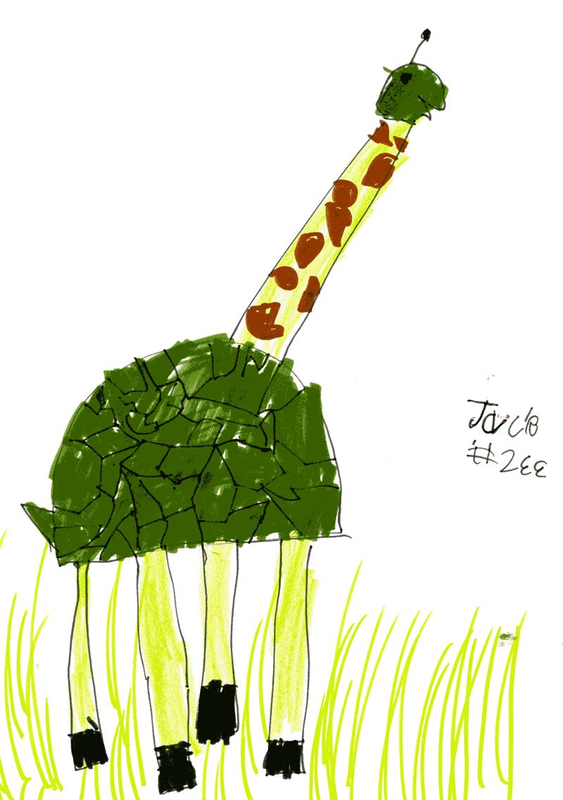 Giraffe + Tortoise = Toraffe for Dylan Atkinson