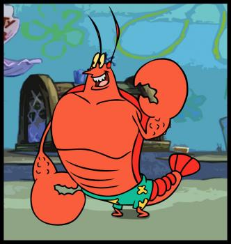 Larry the Lobster (from Spongebob Squarepants) for Neil Hutchinson