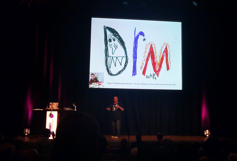 Jack's biggest picture yet at Web Directions @media in London thanks to Bruce Lawson (@brucel)