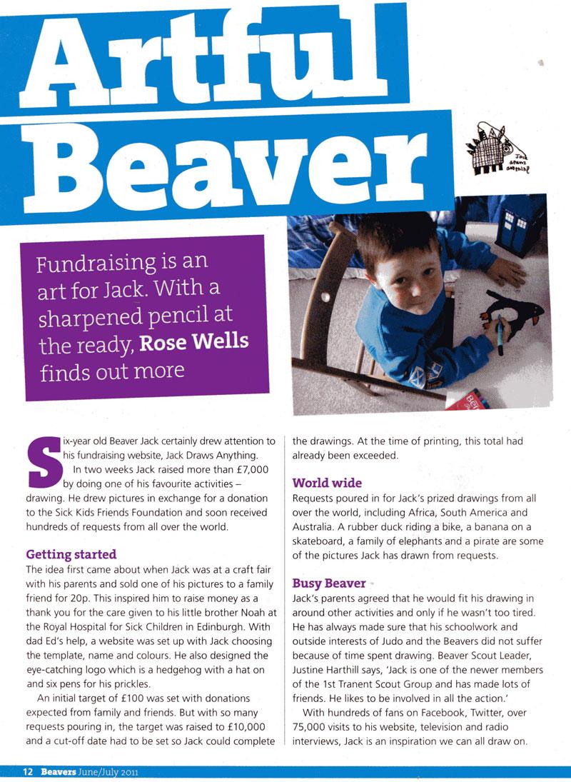 Artful Beaver (article in BEAVERS)