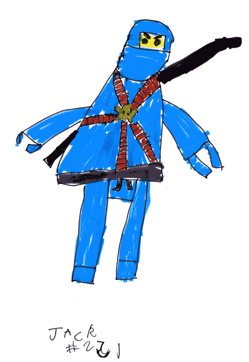 Blue Ninja from Lego Ninjago for Anouchka Doondeea