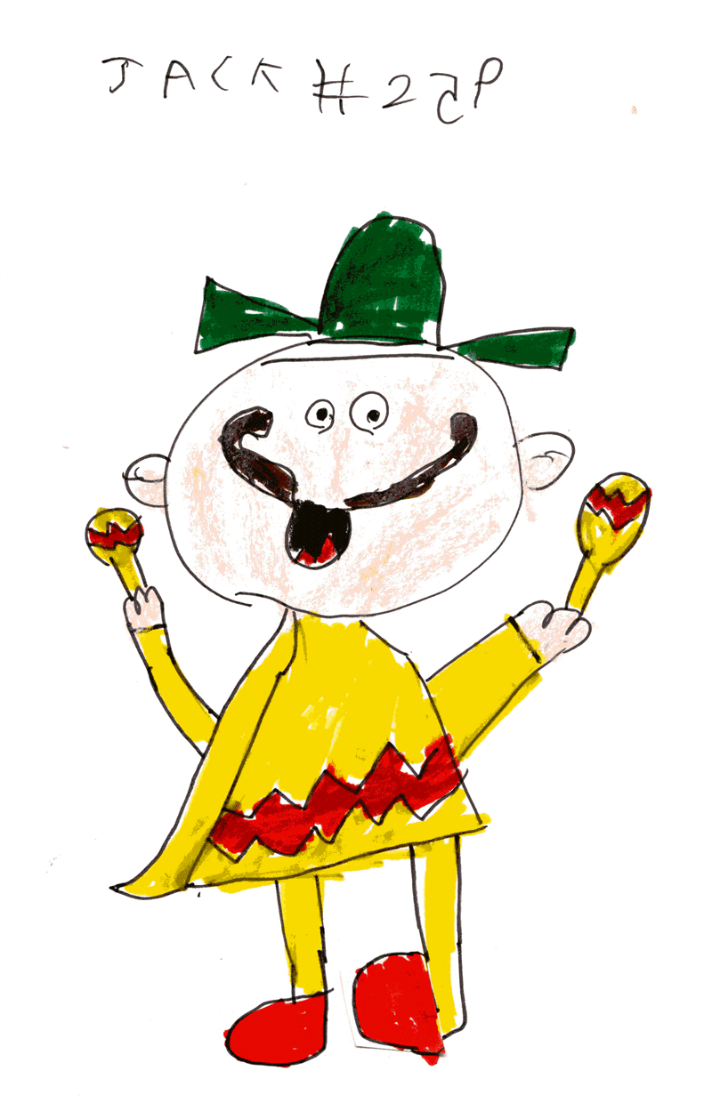 Mexican man, with a BIG moustache and a green sombrero for Stevie & Colette