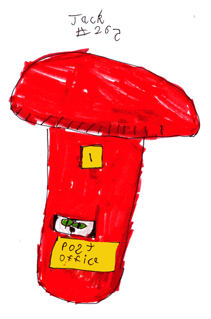 Boobycat sleeping inside a postbox for Dulcie, Charlie & Carrie Druce