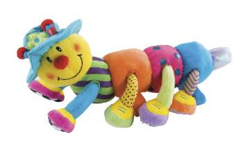 My favourite toy in the world is my caterpillar Brian for Lola