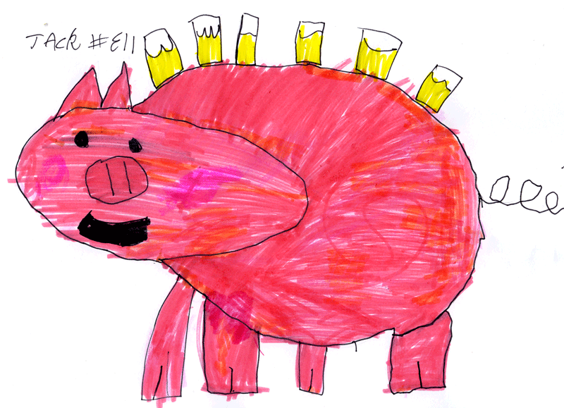 Pig drinking beer for Ryan Curtis
