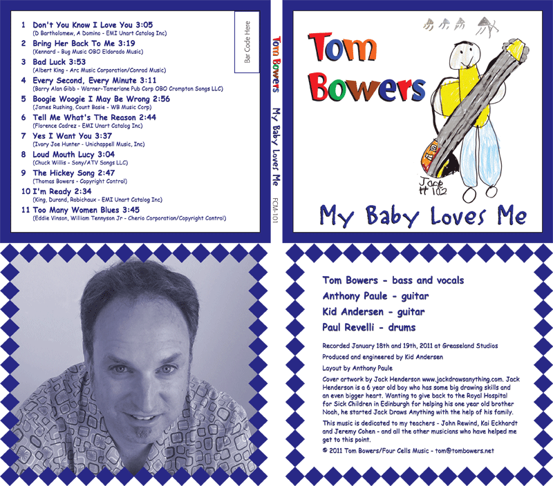 Jack's album cover artwork for Tom Bowers