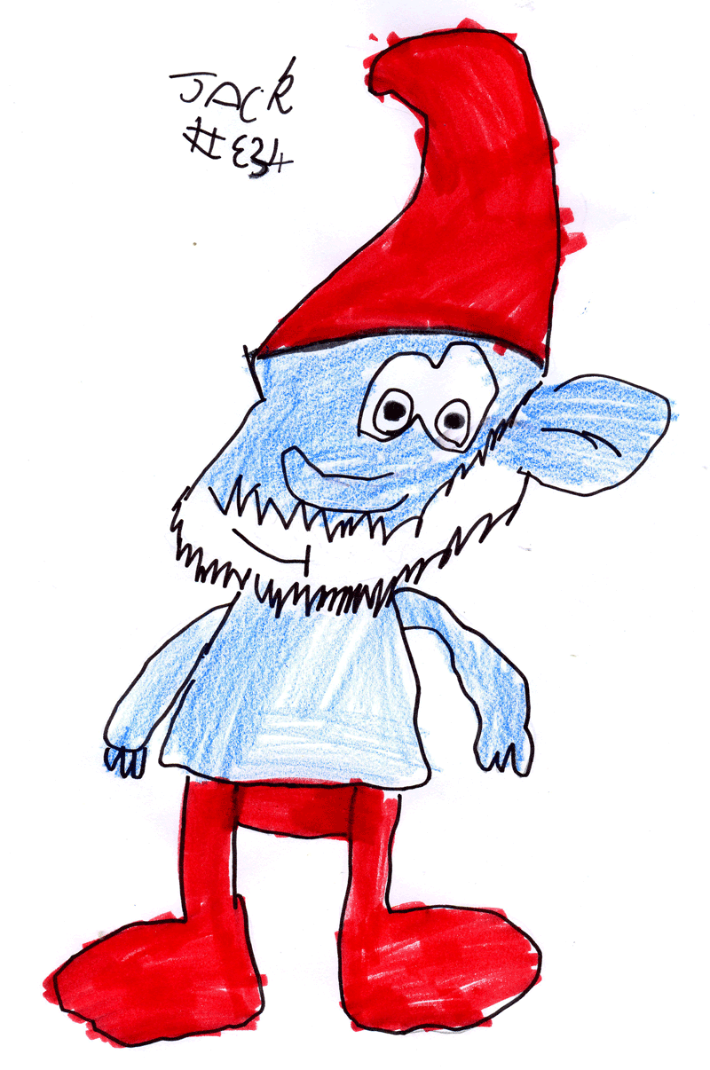 Papa Smurf for Simon Jones