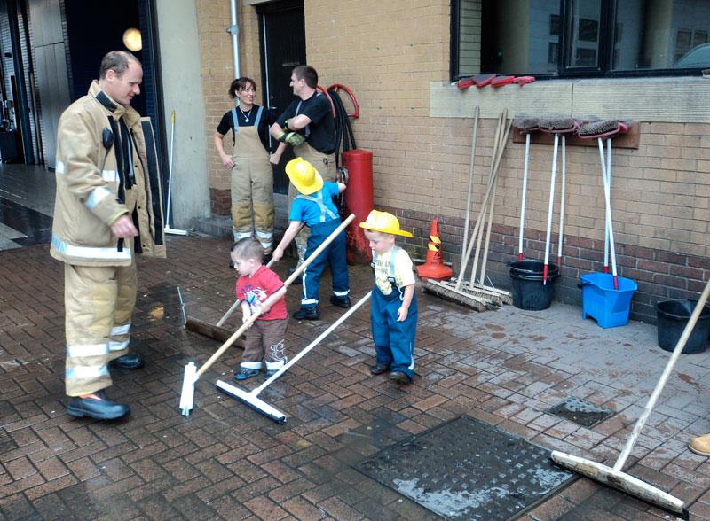 Visit to Fire Brigade HQ